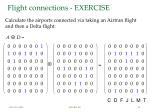 flight connections exercise1