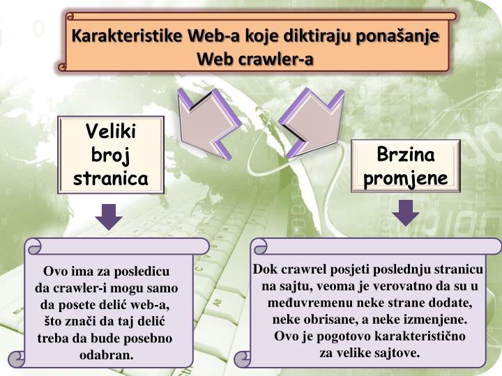 Karakteristike Web-a koje diktiraju ponašanje Web crawler-a