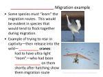 migration example