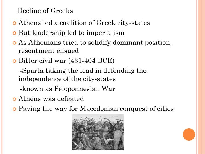 Decline of Greeks