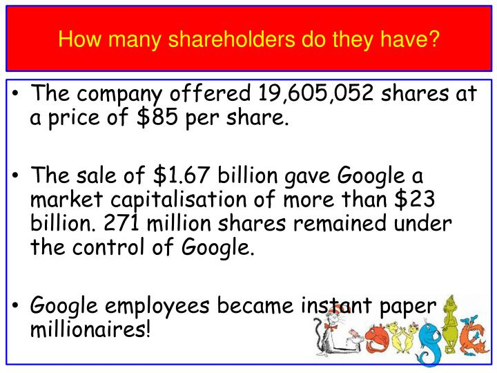 How many shareholders do they have?