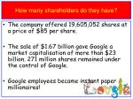 how many shareholders do they have