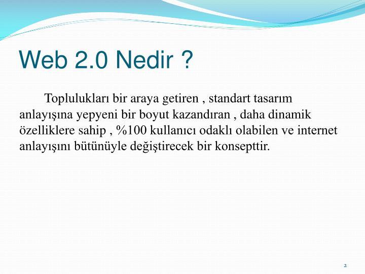 Web 2.0 Nedir ?