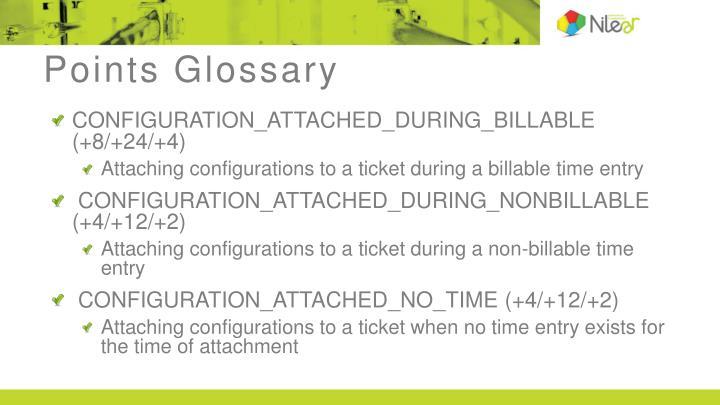 Points Glossary