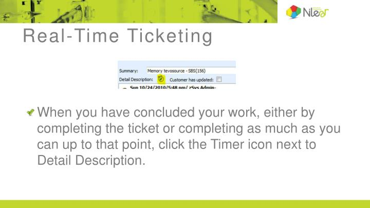 Real-Time Ticketing
