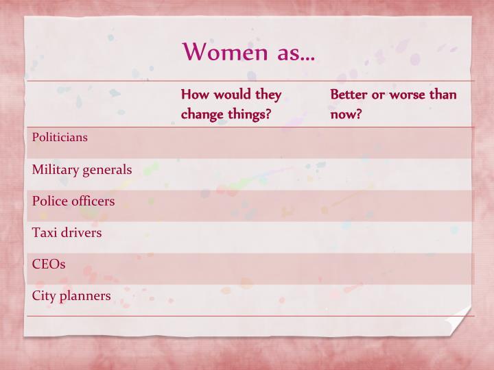Women as…