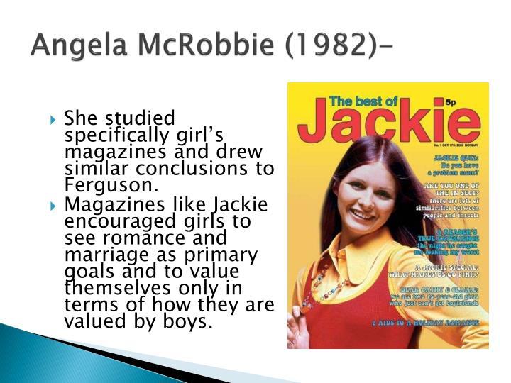 Angela McRobbie (1982)-