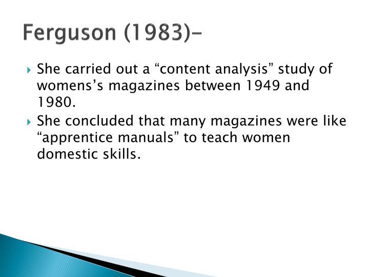 Ferguson (1983)-