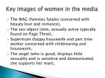 key images of women in the media