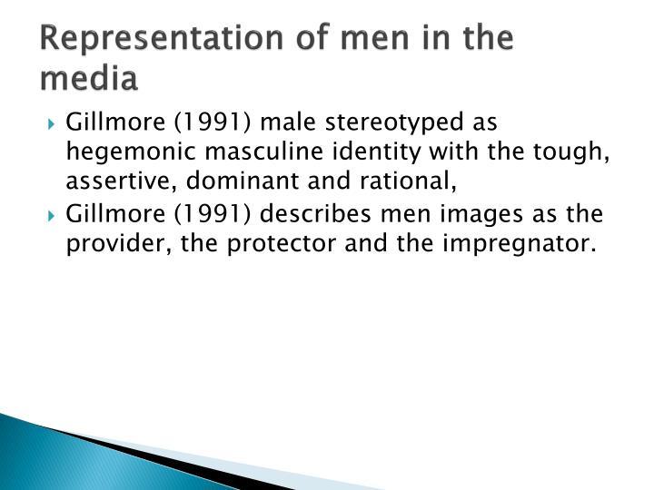 Representation of men in the media