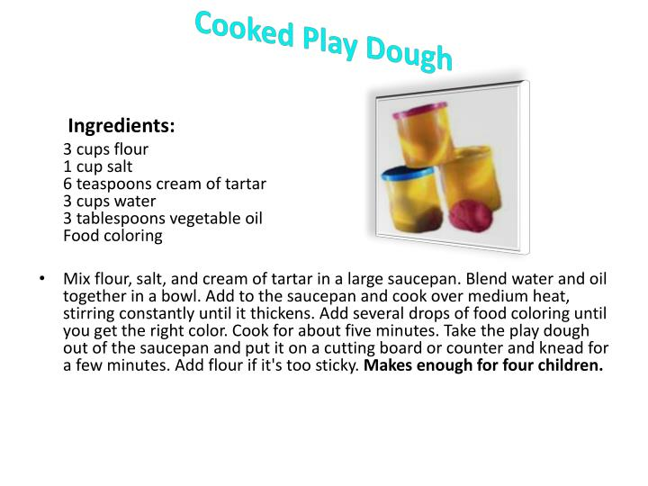 Cooked Play Dough