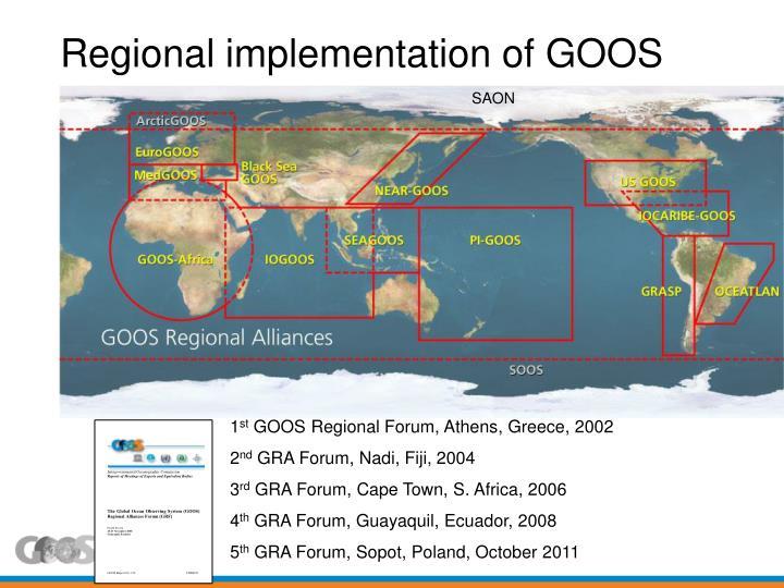 Regional implementation of GOOS
