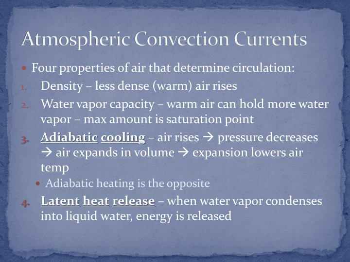 Atmospheric Convection Currents