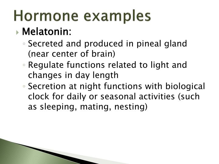 Hormone examples