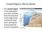 coastal regions marine biome