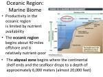 oceanic region marine biome