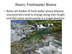 rivers freshwater biome