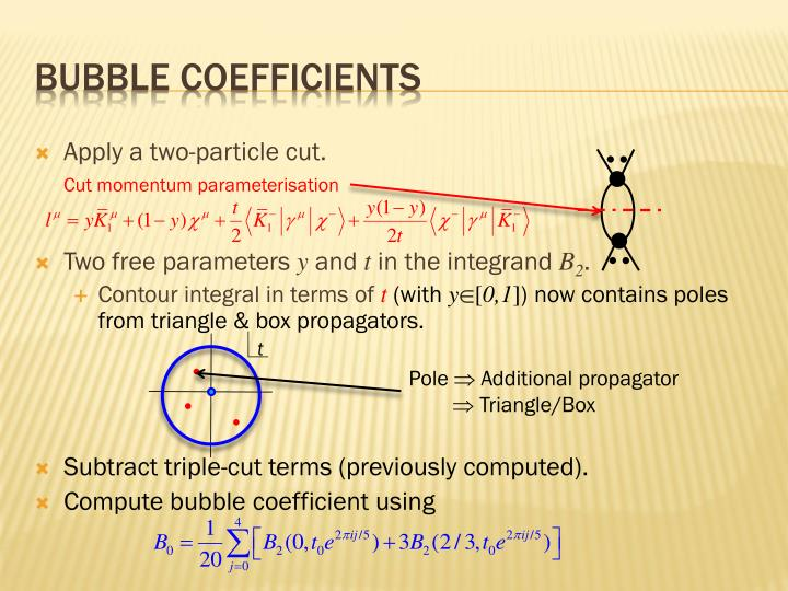 Bubble coefficients