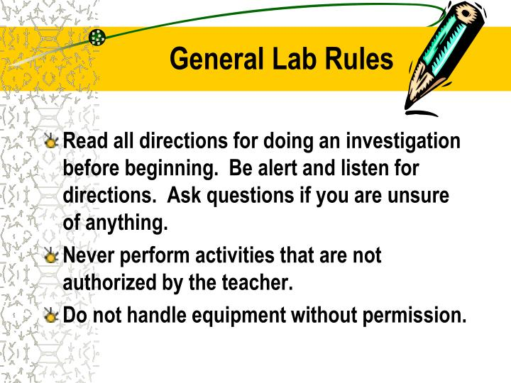 General Lab Rules