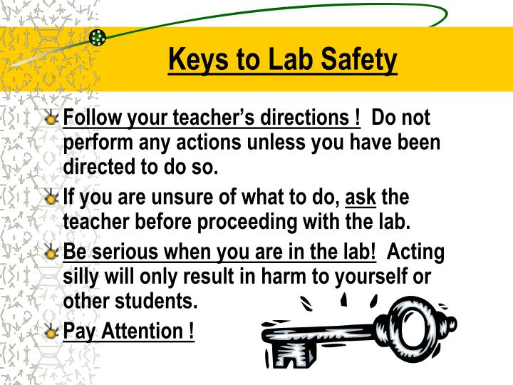 Keys to Lab Safety