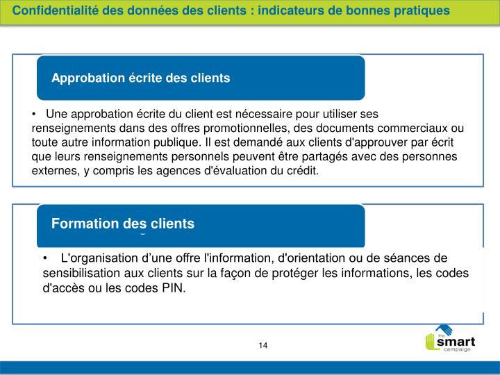 Confidentialité des données des clients : indicateurs de bonnes pratiques