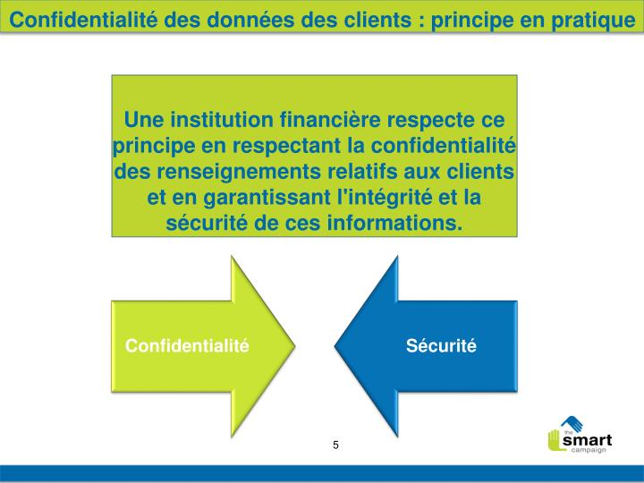 Confidentialité des données des clients : principe en pratique