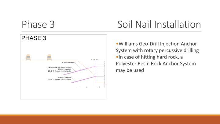 Soil Nail Installation