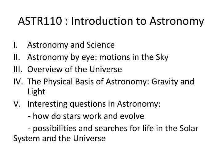 ASTR110 : Introduction to Astronomy