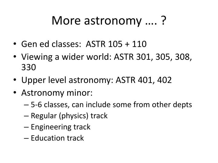 More astronomy …. ?