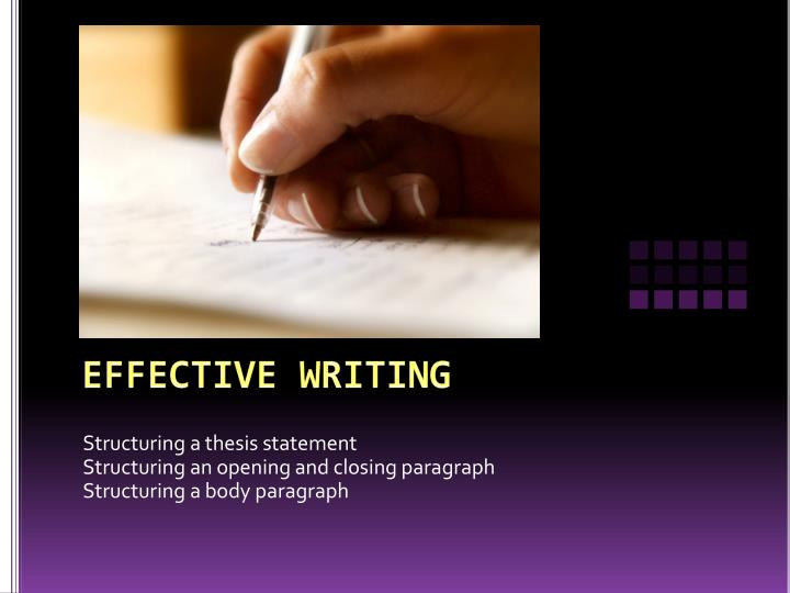 writing an introduction paragraph with a thesis