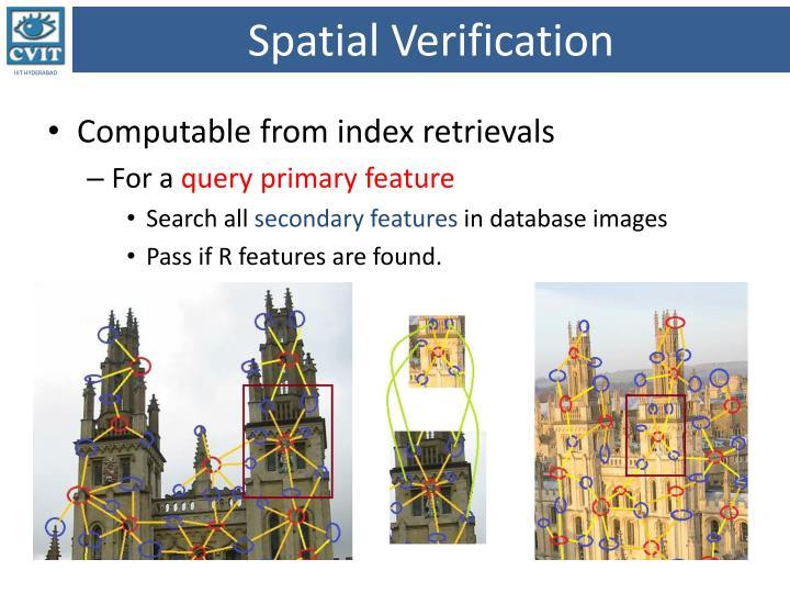 Spatial Verification