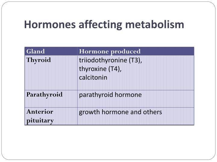 Hormones affecting metabolism
