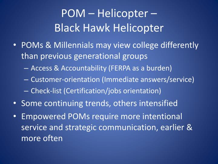 POM – Helicopter –