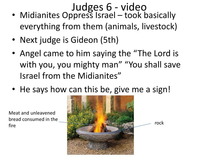 Judges 6 - video