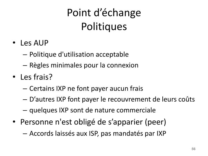Point d'échange