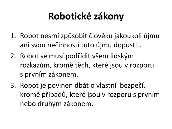 Robotické zákony