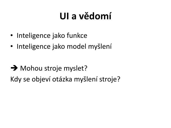 UI a vědomí