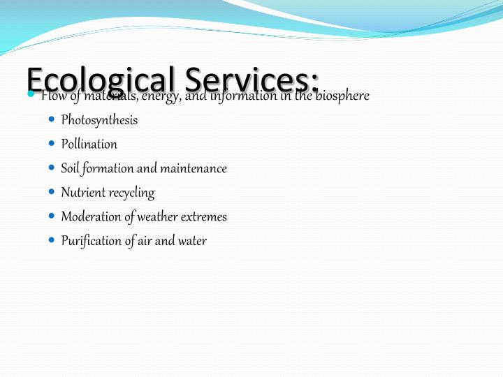 Ecological Services: