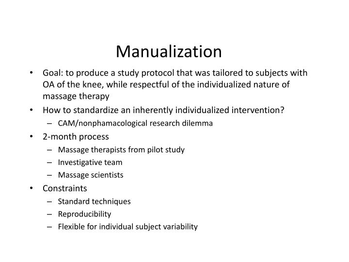 Manualization