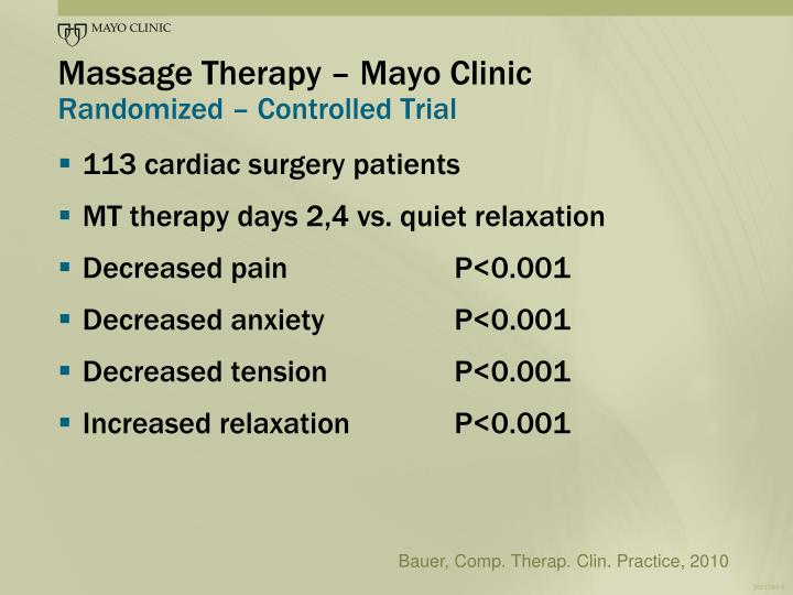 Massage Therapy – Mayo Clinic
