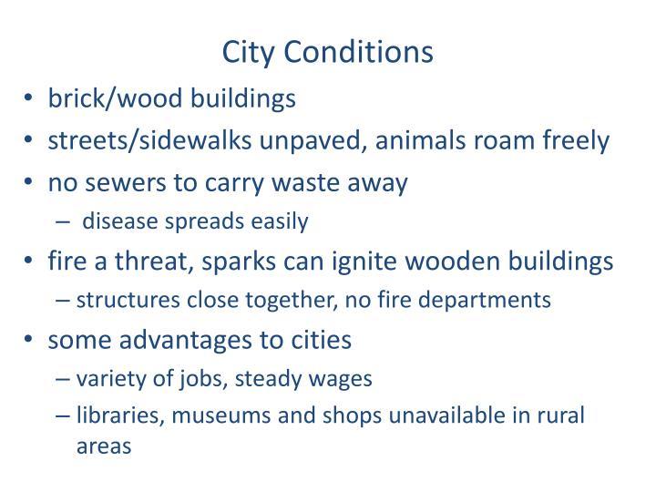 City Conditions