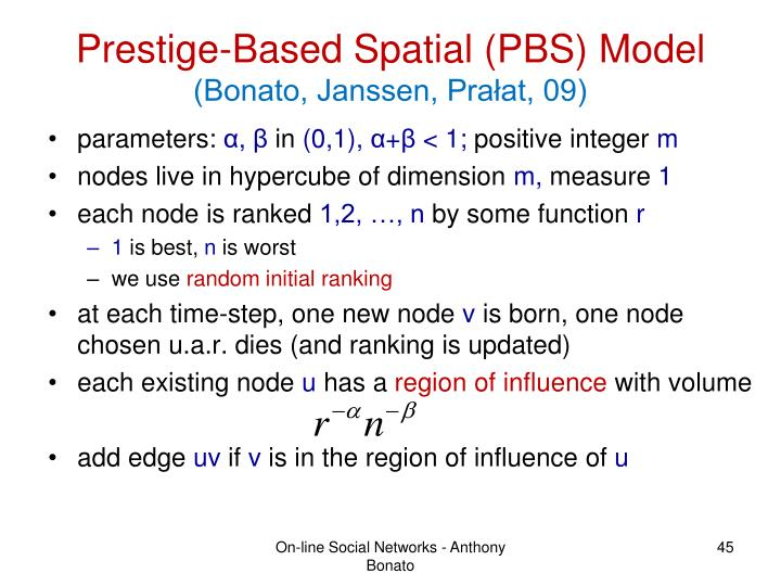 Prestige-Based Spatial (PBS) Model