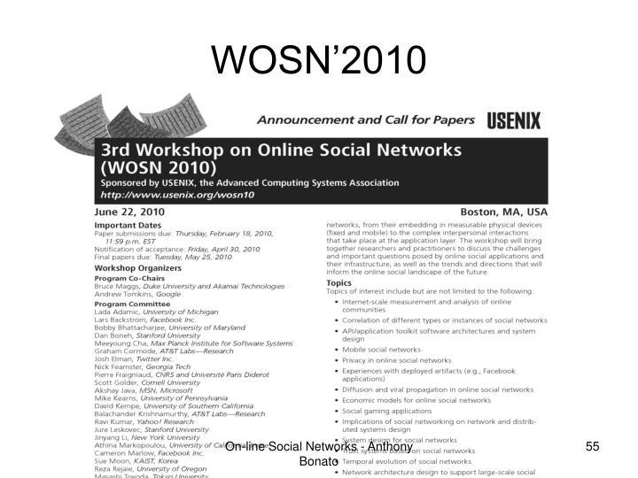 WOSN'2010