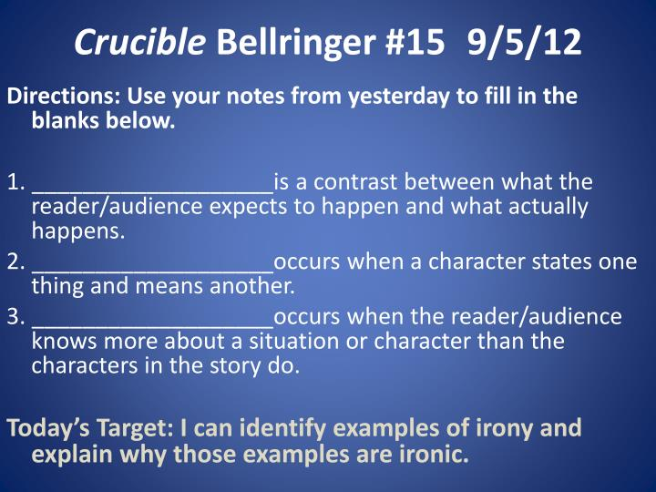 essay notes crucible
