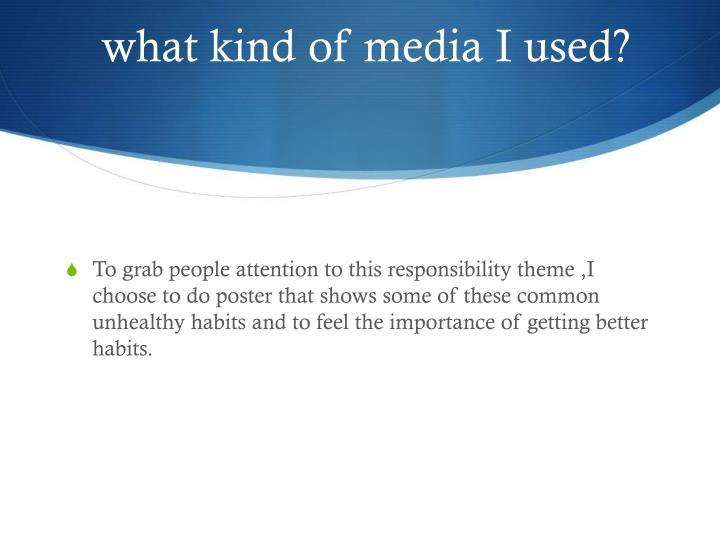 what kind of media I used?