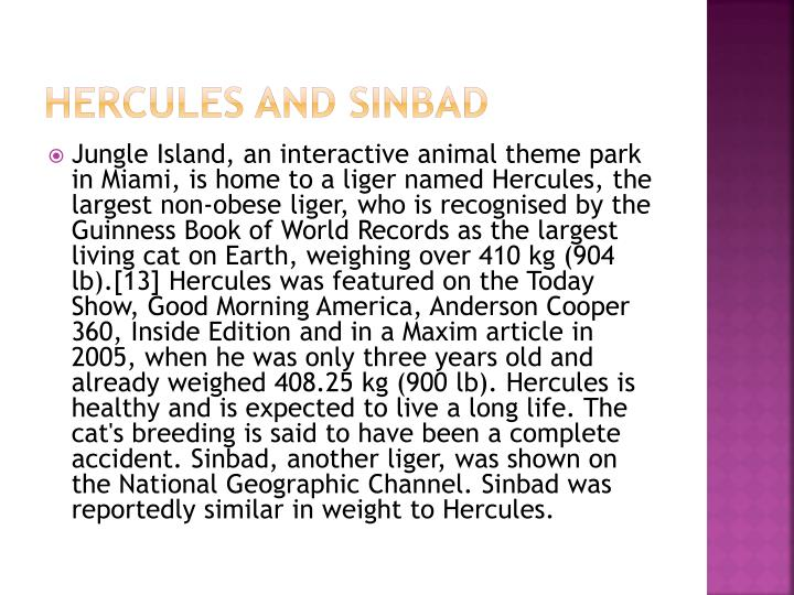 Hercules and Sinbad