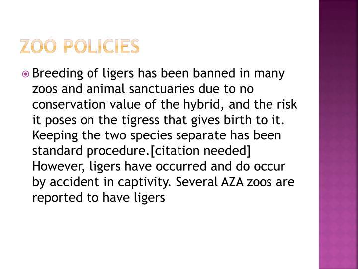 Zoo policies