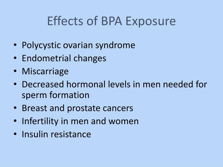 Effects of BPA Exposure