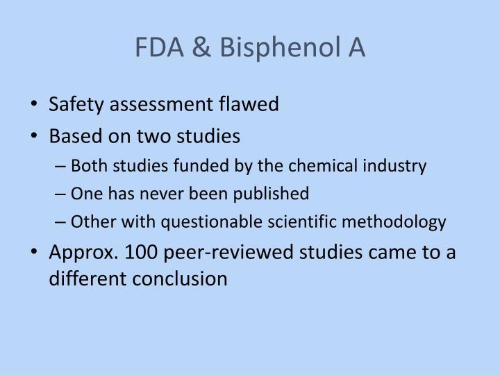 FDA & Bisphenol A
