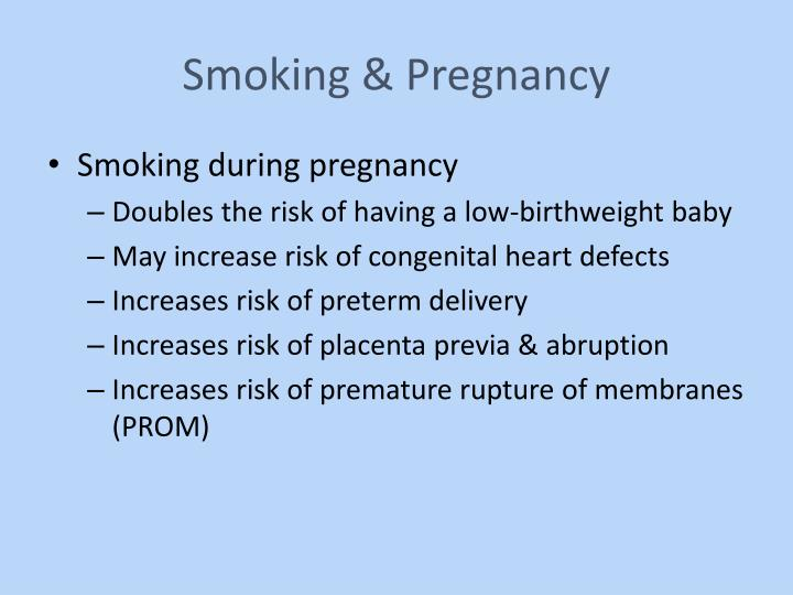 Smoking & Pregnancy